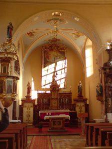 Malířské práce - kostel Sedlonov