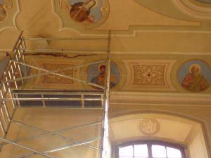 Malířské práce kostel Sedlonov